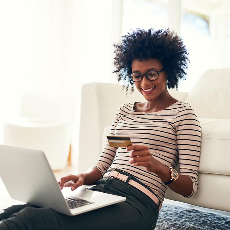 Retail Women Buying Ecommerce